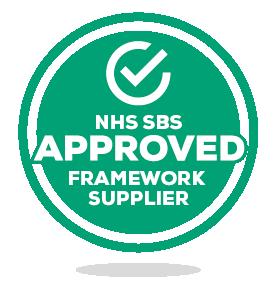 NHS SBS Approved Framework Supplier & NBRA Logos